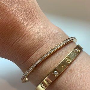 Michael Kors Pave Hinged Bangle Bracelet.   LA